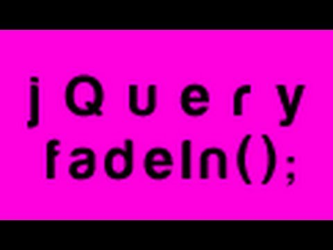 Beginner jQuery Tutorial 1 – Including jQuery – fadeIn();
