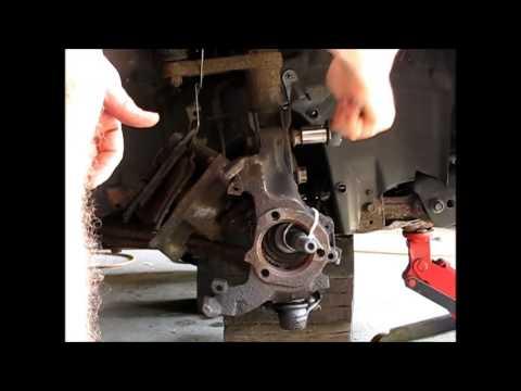 Replacing the CV axle on a 1997 GM Pontiac Grand AM Alero Malibu