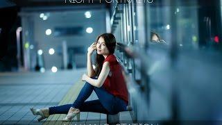 Strobist Video: Night Portraits in Tokyo one light & CTO Gel / 都内のある駅前で 夜景ポートレート撮影  135mm と ストロボ1灯使用