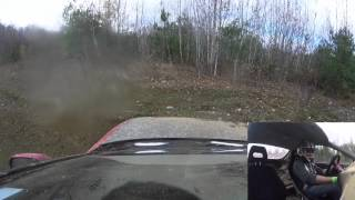 MLRC Rallycross event on October 25th, in Bancroft, Ontario.Minky pushes a little too hard and spins out.