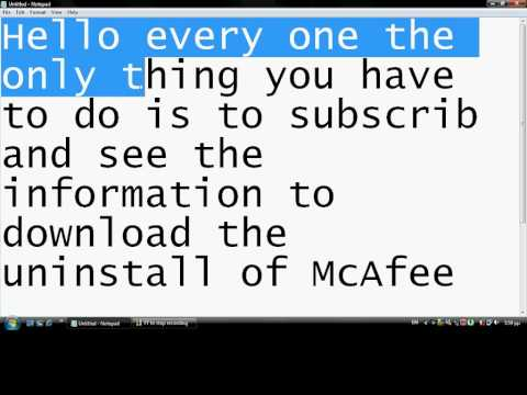 how to properly uninstall mcafee