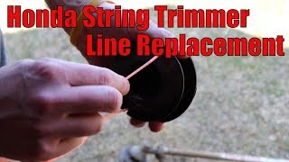 2. How to Replace String Trimmer Line Honda HHT35s, HHT25s
