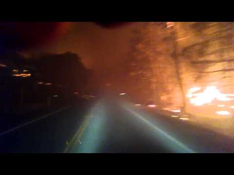 Scary Video Shows Harrowing Escape From California Wildfires