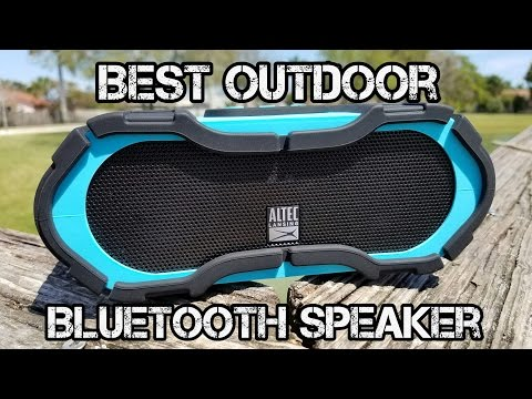 Altec Lansing Boomjacket - Best Outdoor Bluetooth Speaker - NFC - Power Bank - Waterproof!