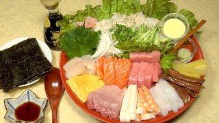 How to Make Temaki Sushi (Japanese Hand Roll Sushi) 手巻き寿司の作り方