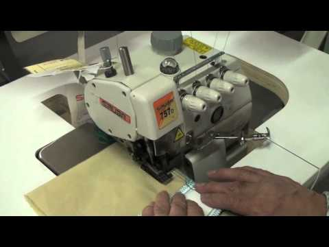 Heavy duty, top feed overlock Siruba 757DFT Industrial Sewing Machine