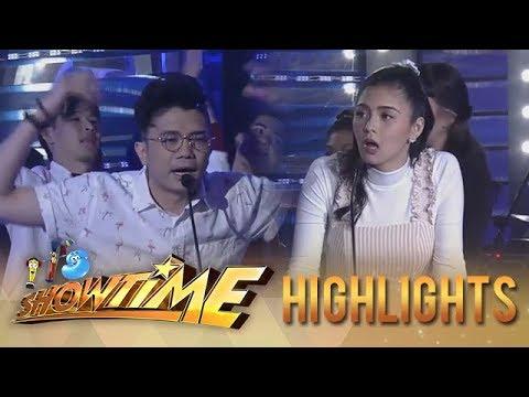 It's Showtime PUROKatatawanan: Kim's jaw drops after hearing the joke of Vhong