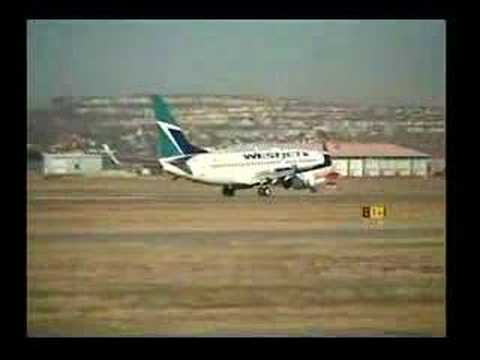 WestJet - Collection of WestJet Take off / Landings in Calgary Alberta.
