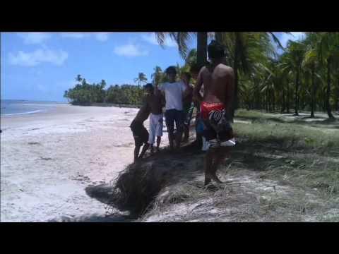 Saltos na praia de toquinho. Nino Rio Formoso