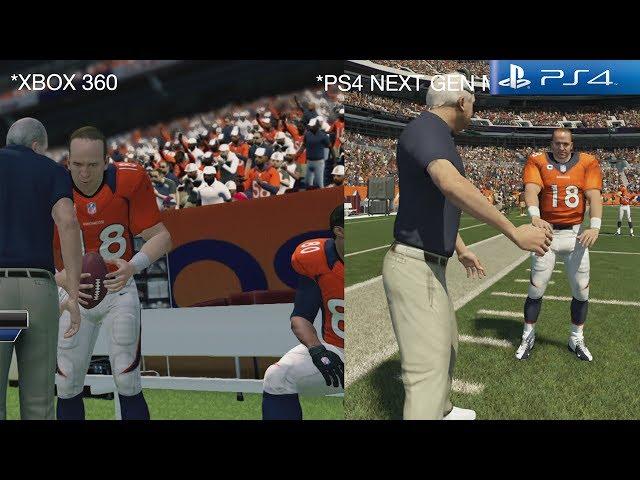 Madden 25 Ps4 Gameplay Graphics Comparison Xbox 360 Vs ...