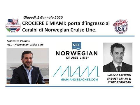 Video Crociere e Miami: porta d'ingresso ai Caraibi di Norwegian Cruise Line (9-1-2020)