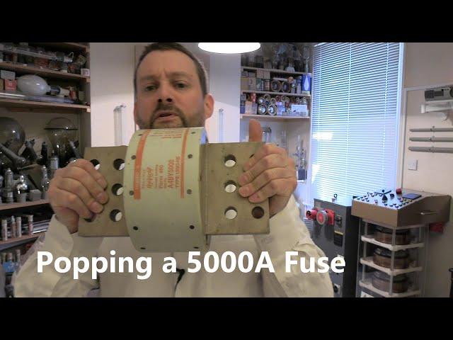 5000Aのフューズを切る実験