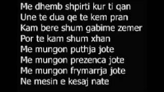 Young-j Feat Sekondari - Dashuris Nuk I Fshihem Dot - Lyrics