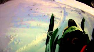 10. 2014 Arctic Cat M8000 HCR hits a rock.