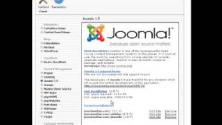 Install Joomla on Your Website Using Fantastico - Joomla Tutorial