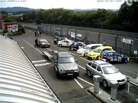 Nurburgring Webcam Timelapse taken 21st May 2009