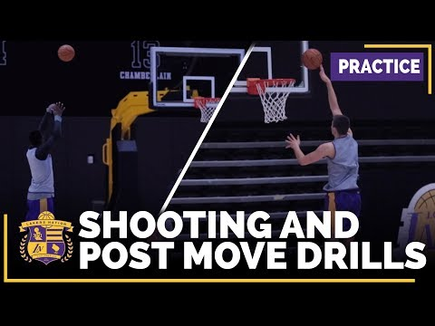 Video: Lakers Practice Footage: Ivica Zubac Post Moves, Julius Randle Shooting
