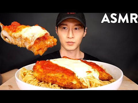 ASMR CHICKEN PARMESAN & PASTA MUKBANG (No Talking) COOKING & EATING SOUNDS | Zach Choi ASMR