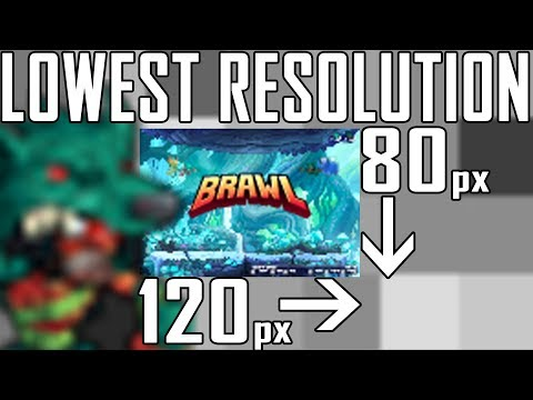 playing brawlhalla in lowest rez possible