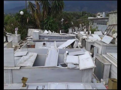 """""""Βιβλικές"""" καταστροφές στο Ασπρόχωμα Καλαμάτας"""