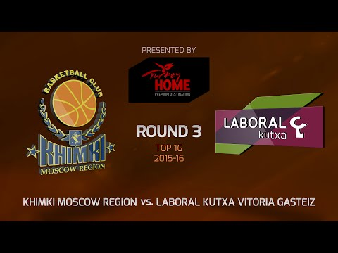 Highlights: Top 16, Round 3, Khimki Moscow Region 76-68 Laboral Kutxa