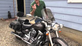 9. Yamaha Roadstar 2003 Speedstar Silverado road bike motorcycle demo