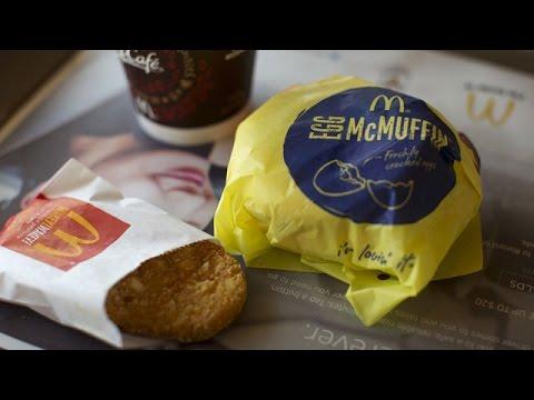 Breakfast fast-food fight (видео)