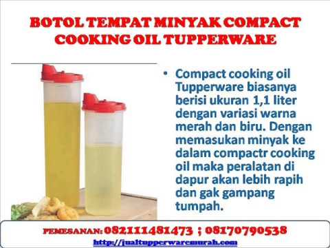 BOTOL TEMPAT MINYAK COMPACT COOKING OIL TUPPERWARE