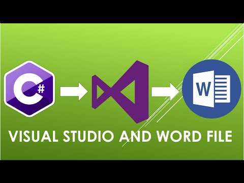 Visual Studio C# Tutorial : Microsoft Word File