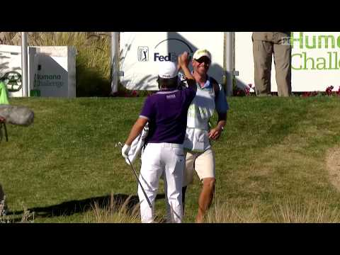 Richard H Lee gets an ace on the 15th hole at the 2013 Humana Challenge