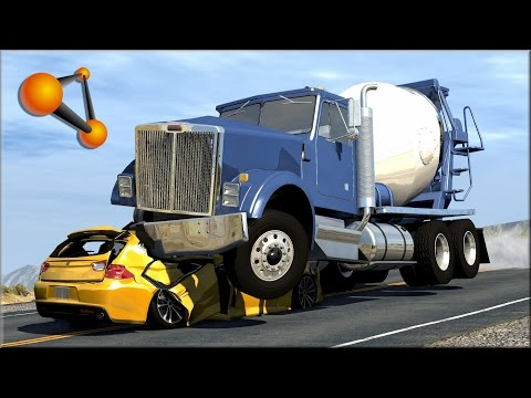 BeamNG.Drive Trucks Vs Cars #5 - Insanegaz