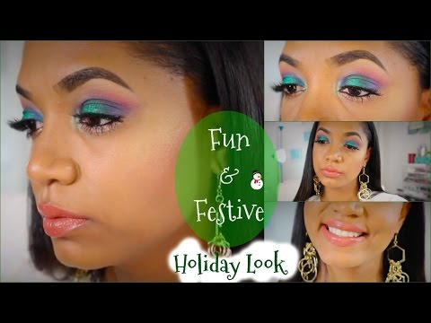 🎄 Fun & Festive | Colorful Holiday Makeup TUTORIAL 🎄