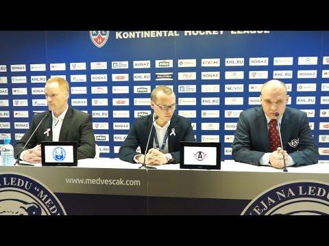 Пресс-конференция - «Медвешчак» 2:3 ОТ «Автомобилист» (17.10.15)
