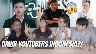Video OMG! berapa UMUR para YOUTUBERS Indonesia?! MP3, 3GP, MP4, WEBM, AVI, FLV Desember 2018