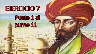 Ejercicio 7.   Punto 1 al punto 11  Libro Álgebra de A. Baldor