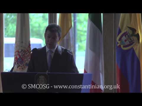 Ordine Constantiniano 2013 – Investitura del Presidente e della First Lady della Colombia