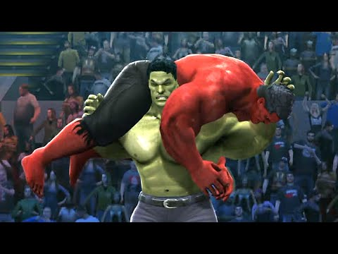 HULK VS RED HULK - Hell In A Cell Match - EPIC Battle - WWE 2K14