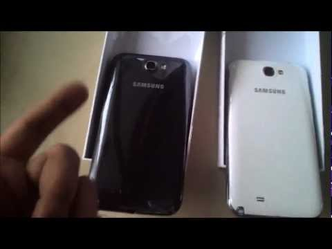 Samsung Galaxy Note II – Marble White and Titanium Grey