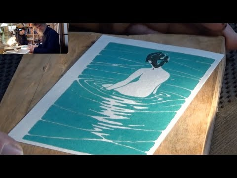 [David Bull] Woodblock Print - start to finish (in real time)