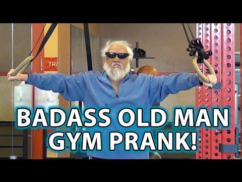 BADASS Old Man Gym Pranks!
