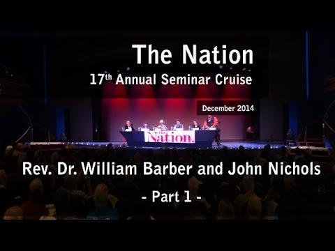 Rev. Dr. William J. Barber and John Nichols (p1) - The Nation 17th Annual Seminar Cruise