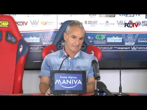 Fc Crotone, Massimo Drago in conferenza
