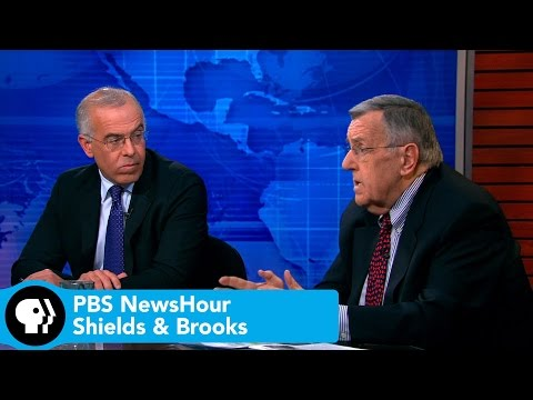 Netanyahu - Syndicated columnist Mark Shields and New York Times columnist David Brooks join Judy Woodruff to discuss the week's news, including President Obama's State of the Union agenda, a controversial.