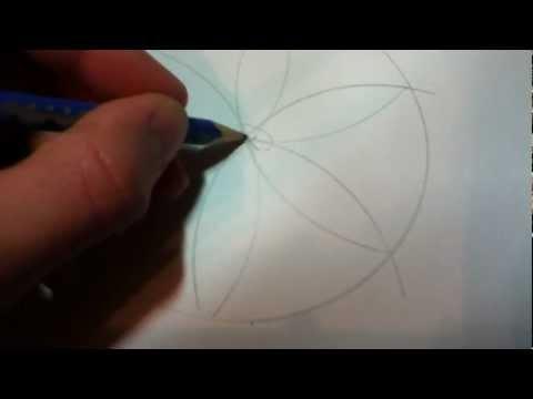 Geometrie – Blume mit Zirkel zeichnen