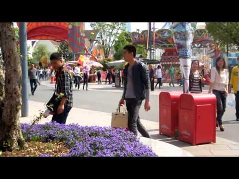 [Fancam 10/04/2014]: Lưu Diệc Phi và Bi (rain) tại khu vui chơi giải trí
