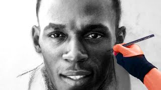 Usain Bolt (FASTEST MAN) Charcoal Drawing - ThePortraitArt