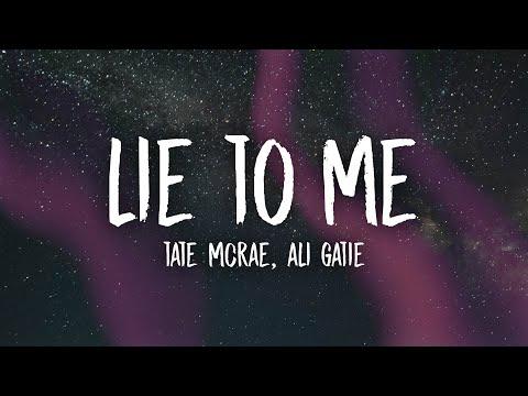 Tate McRae, Ali Gatie - lie to me (Lyrics)