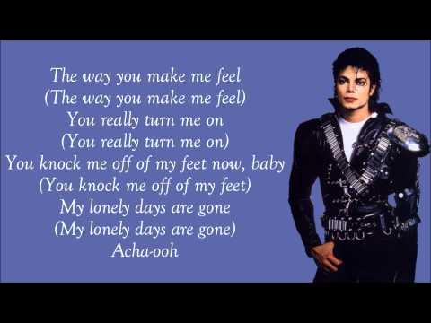 Download Michael Jackson - The Way You Make Me Feel Lyrics Video HD Mp4 3GP Video and MP3