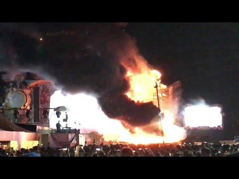 Στις φλόγες η σκηνή του Tomorrowland