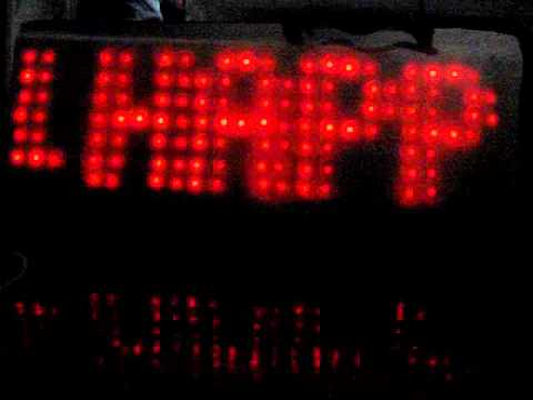 8x24 LED Matrix with AVR ATmega8 & 74HC595(SPI)__For SIN